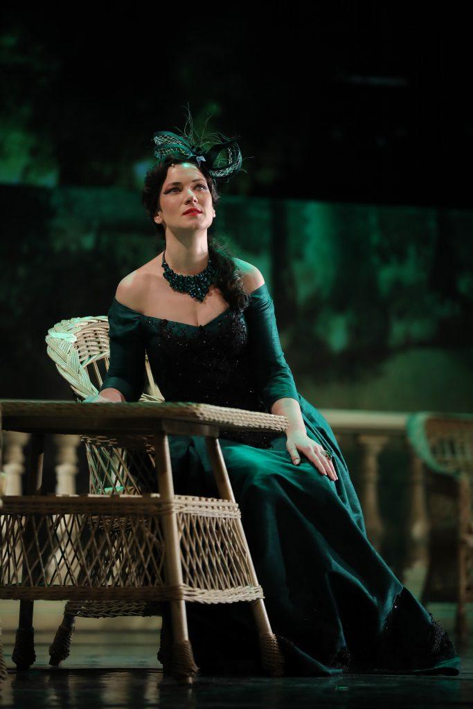 Branislava Podrumac as Hanna Glawari in The Merry Widow
